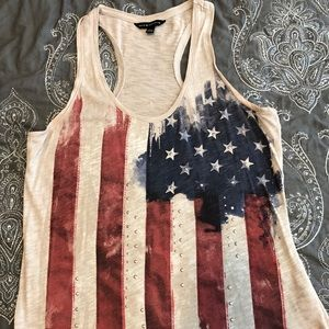 American flag Rock & Republic tank top